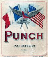 "Etiquette (9,6 X 11,4)  Punch Au Rhum  Aigle Avec Inscription  ""epluribus Unum"" - Labels"