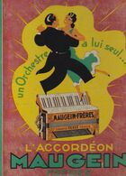 Publicité Plaques Publicitaire Corrèze Tulle Accordéon MAUGEIN Frères Plaque Présentoir Carton Litho C.LACOSTE Bordeau - Pappschilder