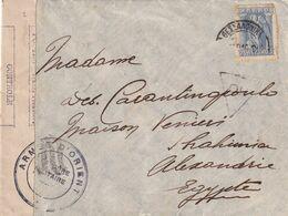 DDX 538 - ARMEE FRANCAISE D' ORIENT - Bande Ronéo Et Cachet De Censure Militaire Sur Enveloppe TP Grec SALONIQUE 1916 - Guerra Del 1914-18