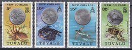 Tuvalu 1976 - Mi.Nr. 19 - 22 - Postfrisch MNH - Tiere Animals Münzen Coins - Tuvalu
