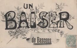 R8-40) BASCONS (LANDES) UN BAISER - Sonstige Gemeinden