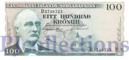 ICELAND 100 KRONUR 1957 PICK 40a UNC - IJsland