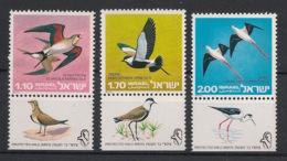 Israel - 1975 - N°Yv.587 à 589 - Oiseaux / Birds - Neuf Luxe ** / MNH / Postfrisch - Ungebraucht (mit Tabs)
