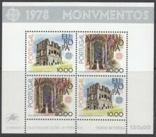 PORTUGAL Block  23, Postfrisch **, Europa CEPT: Baudenkmäler 1978 - Blokken & Velletjes