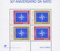 PORTUGAL  Block  26, Postfrisch **, 30 Jahre Nordatlantikpakt (NATO) 1979 - Blocs-feuillets