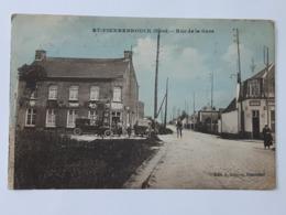 Carte Postale De Saint-Pierrebrouck. - Rue De La Gare Envoyée Vers Beloeil - Cachets Dunkerque ... Lot180 . - Frankreich