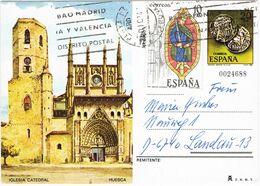 37454. Entero Postal PLAYA De ARO (Gerona) 1984. Denario Iberico Y Catedral Huesca - 1931-....