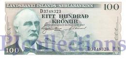 ICELAND 100 KRONUR 1957 PICK 40a UNC - Islanda