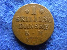 DENMARK 1 SKILLING 1771, KM616 - Denmark