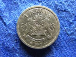 SWEDEN 1 KRONA 1887, KM747 Cleaned - Sweden