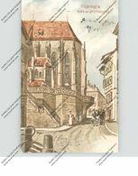 7400 TÜBINGEN, Chor Der Stiftskirche, 1906, Künstler-Karte R.Hartmann - Tuebingen