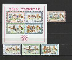 Malawi 1992 Olympic Games Barcelona Set Of 4 + S/s MNH - Summer 1992: Barcelona