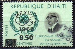 HAITI - 1968 - MEXICO OLYMPIC GAMES - DOCTEUR DUVALIER - 0.50 - Surcharge - Overprint - Oblitéré - Used - - Haïti