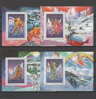 """Mauritania 1990 Olympic Games Albertville Set Of 4 S/s Type I With Inscription """"Alberville"""" MNH -scarce- - Invierno 1992: Albertville"""