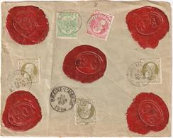 Back Side Of An Envelope With Stamps Leopold II And Seals Bruxelles 1908 - Unclassified