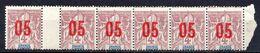 Colonies Françaises - GRANDE COMORE - 1912 - Bande De 6 Avec Intervalle Du N° 21 - 05 Sur 4 C. - Grandi Comore (1897-1912)