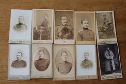 10 Cdv Militaires Allemands Vers 1900 1914 - Guerra, Militari