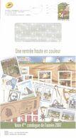 """Enveloppe Entier International Prioritaire Avec Catalogue Phil@poste Correspondant """" 4 ème Catalogue 2007 """". - Ganzsachen"""