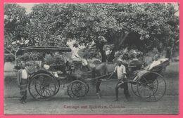 Ceylon - Sri Lanka - Colombo - Carriage And Rickshaw - Pousse Pousse - Attelage - Animée - Edit. APOTHECARIES Co Ltd - Sri Lanka (Ceilán)
