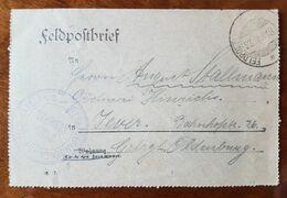 Feldpostkartenbrief Strafgefangenen-Arbeiter Batl. Nr. 2, 23,VI.18 - Brieven En Documenten
