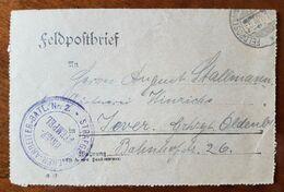 Feldpostkartenbrief Strafgefangenen-Arbeiter Batl. Nr. 2, 25.4.18 - Allemagne