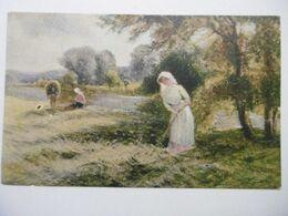 """Art Peintures & Tableaux """"La Fenaison"""" Paysage Anglais, Edition De La Chocolaterie D'Aiguebelle - Malerei & Gemälde"""
