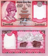 NEPAL, 5 Rupees, 2002, P46a, UNC - Nepal