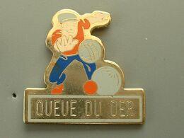 Pin's PETANQUE - QUEUE DU DER - Boule/Pétanque