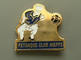Pin's PETANQUE - NIEPPE - Boule/Pétanque
