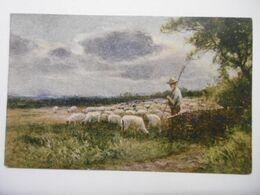 """Art Peintures & Tableaux """"Le Berger"""" Paysage Anglais, Edition De La Chocolaterie D'Aiguebelle - Malerei & Gemälde"""