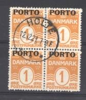 Danemark - Taxe  :  Yv  1  (o)    Bloc De 4 - Port Dû (Taxe)