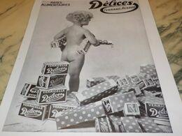 ANCIENNE PUBLICITE PATES ALIMENTAIRES DELICES DE FERRAND RENAUD 1932 - Afiches