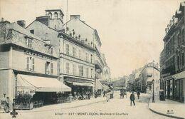 CPA 03 Allier Montlucon Boulevard De Courtaix (sic) Courtais Café Du Midi Bazar Felix Potin - Montlucon