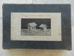Très Ancien Jeu X De Construction De Chalets Bois 1920 - Other