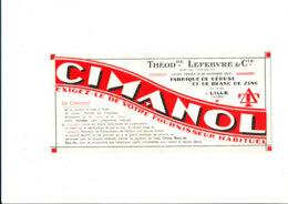 BU 1839  /   BUVARD     -  FABRIQUE DE  CERUSE ET DE BLANC DE ZING  LILLE - Verf & Lak