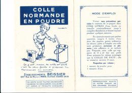 BU 1845 /   BUVARD     - COLLE NORMANDE EN POUDRE   ETS BEISSIER   PARIS - Peintures