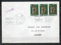 Luxembourg Lettre Avec Timbre Et Oblitération  (Oblitération Luxembourg 21/12/73) - Autres