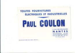 BU 1875 /   BUVARD     -  FOURNITURES ELECTRIQUES PAUL COULON NANTES - Electricity & Gas