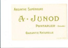 BU 1885 /   BUVARD     -  ABSINTHE  A.  JUNOD   PONTARLIER - Alimentos