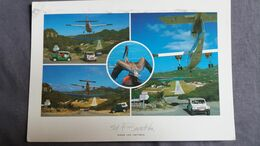 CPM ST BARTH SAINT BARTHELEMY AVION JEEP OISEAU ROUTE DE L AEROPORT 1997 ANTILLES FRANCAISES - Other