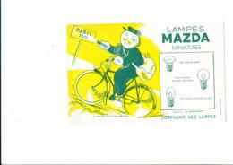 BU 1899 /   BUVARD     -  LAMPES MAZDA   MINIATURES - Electricity & Gas
