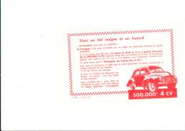 BU 1902 /   BUVARD     -  4 CV RENAULT - Automotive