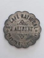 Monnaie De Nécessité HAUTE-LOIRE 43 **CRAPONNE Café National J. ALIBERT 15 C** 2 Scans - Notgeld