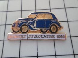 713L Pins Pin's / Rare & Belle Qualité THEME AUTOMOBILES / Superbe En Léger Relief RENAULT JUVAQUATRE 1939 Par CEF PARIS - Renault