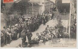 LISLE 15 SEPTEMBRE 1913 VOYAGE  TOURISTIQUE DE M POINCARE - Riberac