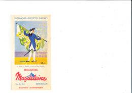BU 1949  /   BUVARD     BISCOTTES     MAGDELEINE     DRAPEAU DU REGIMENT DE SAINT MALO SOUS LOUIS XVI - Biscotti