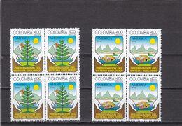 Colombia Nº 1048 Al 1049 En Bloque De Cuatro - Colombia