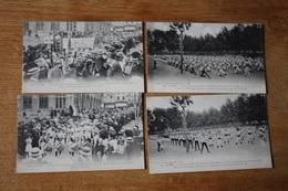 4 Cpa  Vienne   Concours De Gymnastique  1910 Défilé Dans La Ville - Vienne