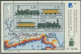 FINNLAND / MiNr. Block 3 / FINLANDIA '88 / Postfrisch / ** / MNH - Trenes