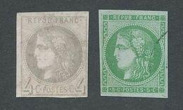 """DP-574: FRANCE: Lot Avec """"BORDEAUX"""" N°41B NSG-42B Obl Légère - 1870 Ausgabe Bordeaux"""